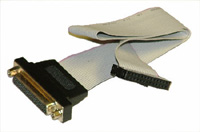 DB-25 Female to 26-pin Ribbon Cable Plug Connector, 6 inch