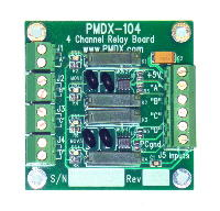 PMDX-104 four channel low-power SSR output buffer