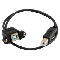 USB B-to-B Extension Panel Mount Cable
